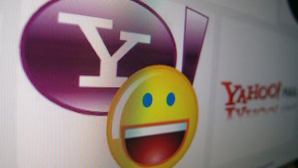 A Yahoo messenger logo is displayed on a monitor in this photo illustration shot April 16, 2013. - Sputnik International