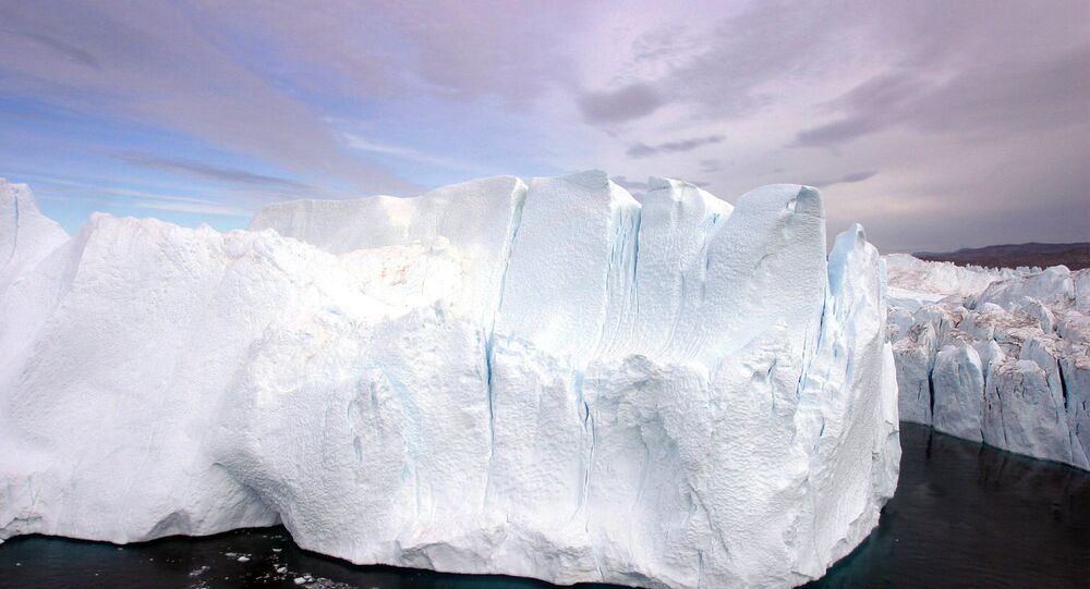 Views of glaciers, icebergs and details of the Greenland ice cap