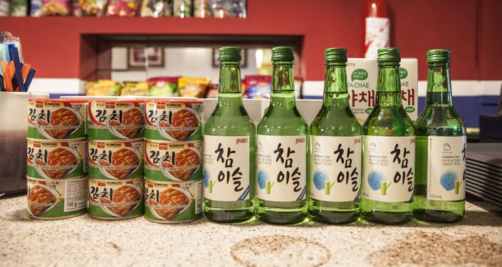 Korean food and alcohol