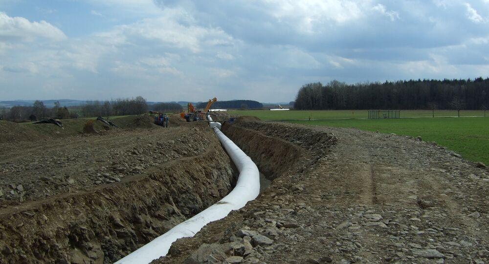 OPAL pipeline near Weisenborn, Saxony