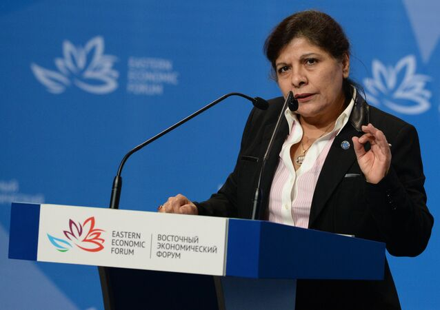 Executive Secretary of the United Nations Economic and Social Commission for Asia and the Pacific Shamshad Akhtar at the opening of the 2016 Eastern Economic Forum
