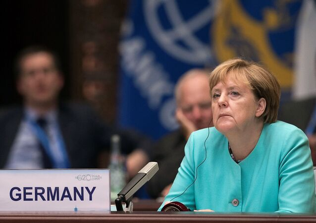 German Chancellor Angela Merkel attends the opening ceremony of the G20 Summit in Hangzhou, China