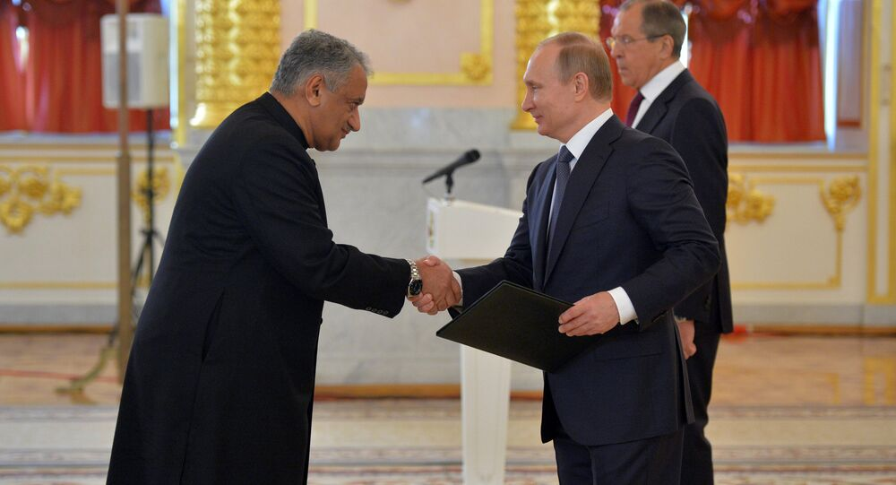 President Vladimir Putin receives letters of credence from foreign ambassadors