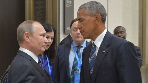Vladimir Putin and Barack Obama at G20 Summit in Hangzhou, September 2016. - Sputnik International