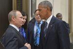 Vladimir Putin and Barack Obama at G20 Summit in Hangzhou, September 2016.