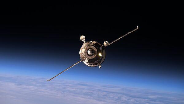 Energia Corp Progress MS-02 supply ship approaching the ISS - Sputnik International