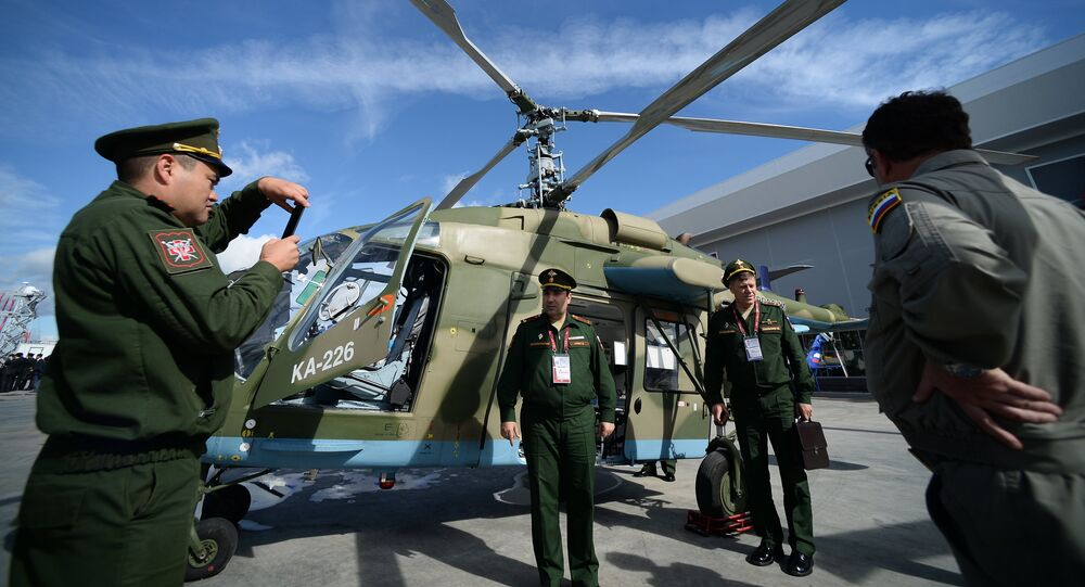 Ka-226T at the ARMY-2016 military exhibition