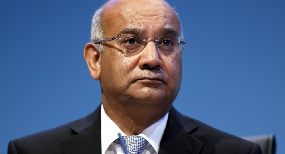 Former MP and chairman of the Home Affairs Select Committee Keith Vaz chairs a session while in office during the final day of the Labour party conference in Brighton, east Sussex, south England, on 25 September 2013