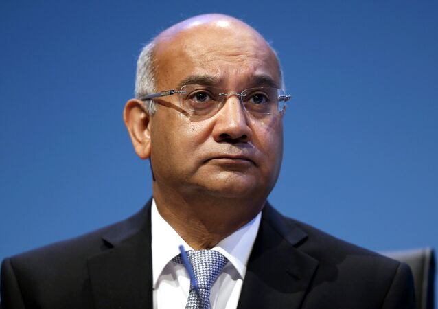 Brititish Keith Vaz, Chairman of the Home Affairs Select Committee, chairs a session during the final day of the Labour party conference in Brighton, east Sussex, south England, on September 25, 2013