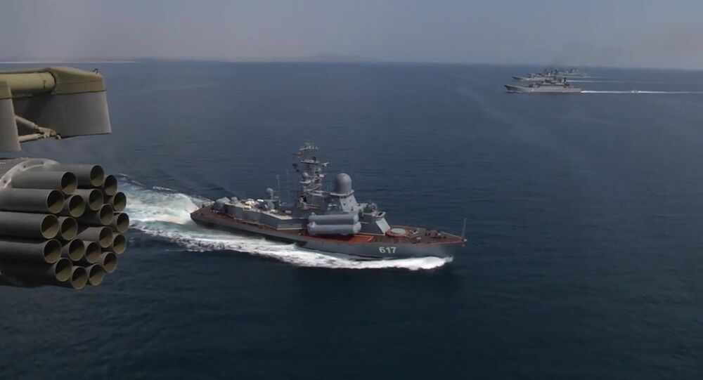 Black Sea Navy Fleet and the Caspian Flotilla took part in Kavkaz-2016 strategic troops exercise