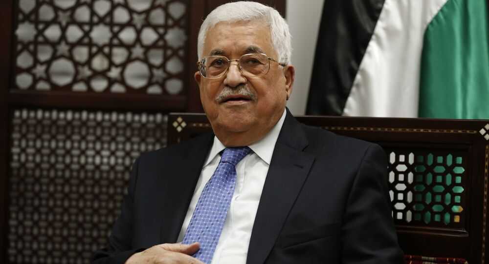 Palestinian president Mahmoud Abbas is pictured during a meeting with the Norwegian foreign minister in the West Bank city of Ramallah on September 8, 2016.