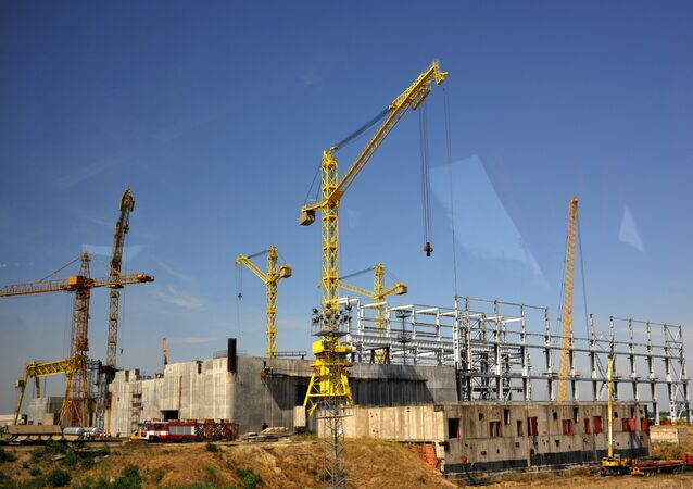 Construction site of Bulgaria's second nuclear power plant in the town of Belene. (File)