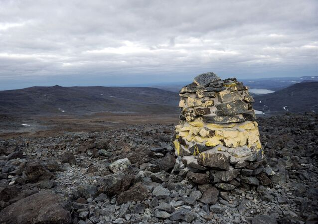 General view of the Halti mountain, on the Finnish and Norwegian borders, in Enontekio, Finland.