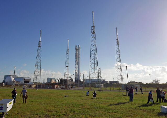 Photographers set up remote cameras preparing to cover the Falcon 9 SpaceX rocket launch at complex 40 at the Cape Canaveral Air Force Station in Cape Canaveral. (File)