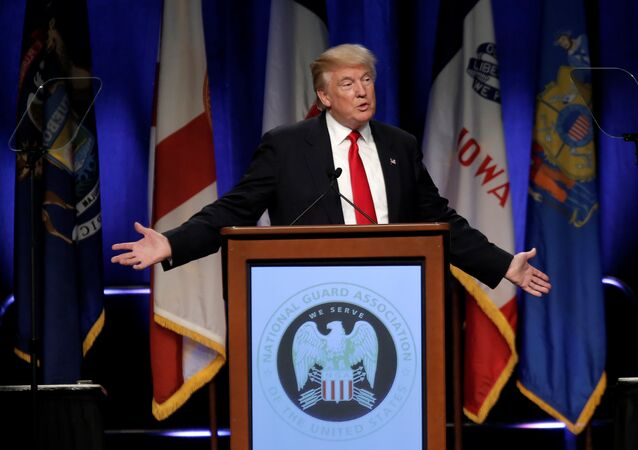 Republican presidential nominee Donald Trump speaks at the National Guard Association of the United States 138th General Conference and Exhibition in Baltimore, Maryland, U.S., September 12, 2016.