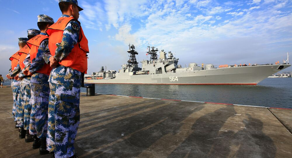 Russian naval ship arrives in port in Zhanjiang in southern China's Guangdong Province