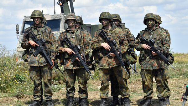 German soldiers (Bundeswehr) are pictured at a training area on August 9, 2016 in Ohrdruf - Sputnik International