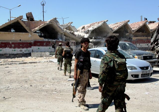 Syrian army troops are in Ramouseh district in southern Aleppo