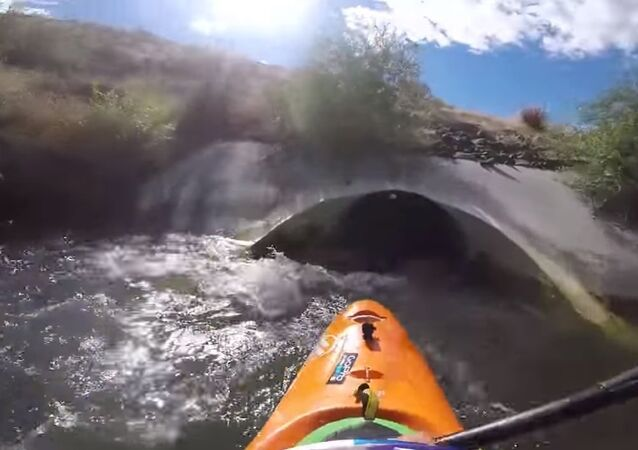 Kayaking Through a Drain Pipe