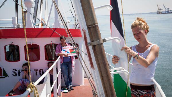 Female flotilla sails to Gaza - Sputnik International
