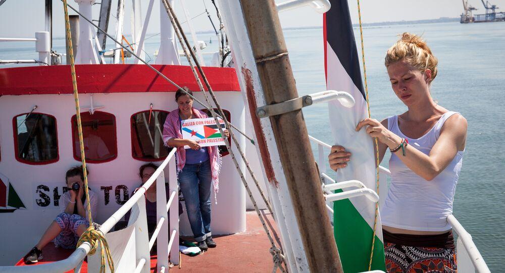 Female flotilla sails to Gaza