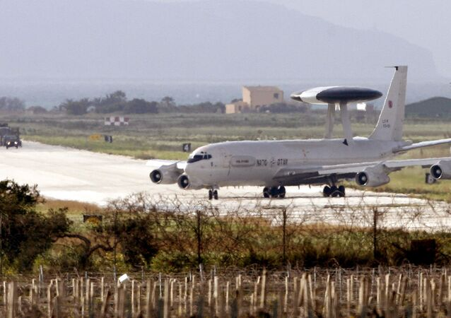 A Nato Awacs plane prepare to take-off from the air base of Trapani Birgi in the southern island of Sicily on March 19, 2011