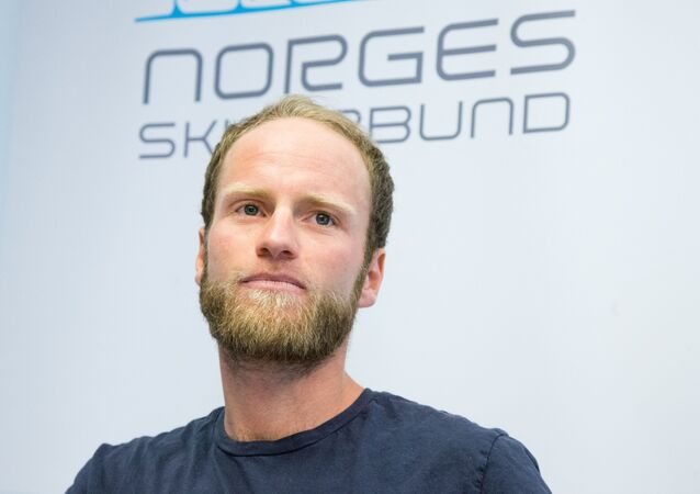 Norwegian cross country skier Martin Johnsrud Sundby attends a press conference on July 20, 2016 in Oslo