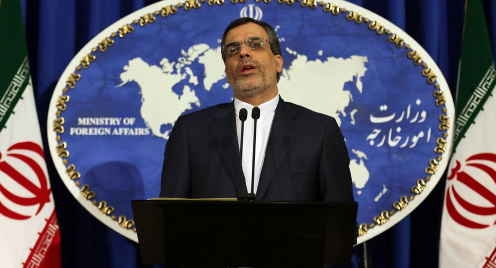 Newly-appointed spokesman of Iran's Foreign Ministry, Hossein Jaberi Ansari speaks during a weekly press conference on December 14, 2015 in the capital Tehran