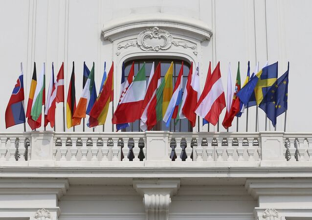 European Union countries flags are seen at the Bratislava Castle (Hrad) during the European Union summit- the first one since Britain voted to quit- in Bratislava, Slovakia, September 16, 2016