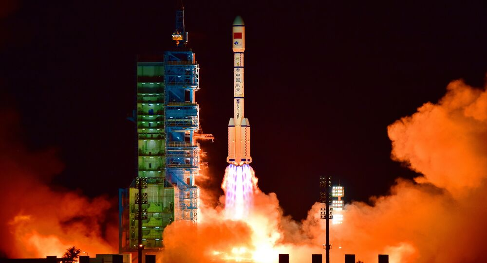 China's Tiangong 2 space lab is launched on a Long March-2F rocket from the Jiuquan Satellite Launch Center in the Gobi Desert, in China's Gansu province