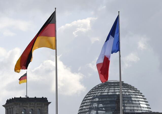 German and french flags. (File)