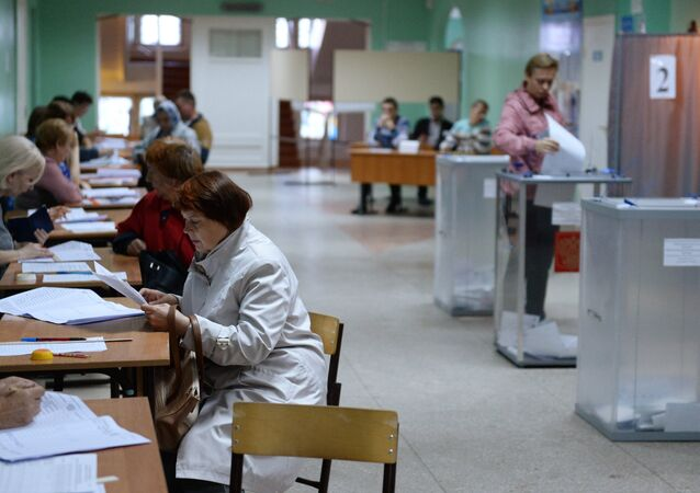General election day in Russia