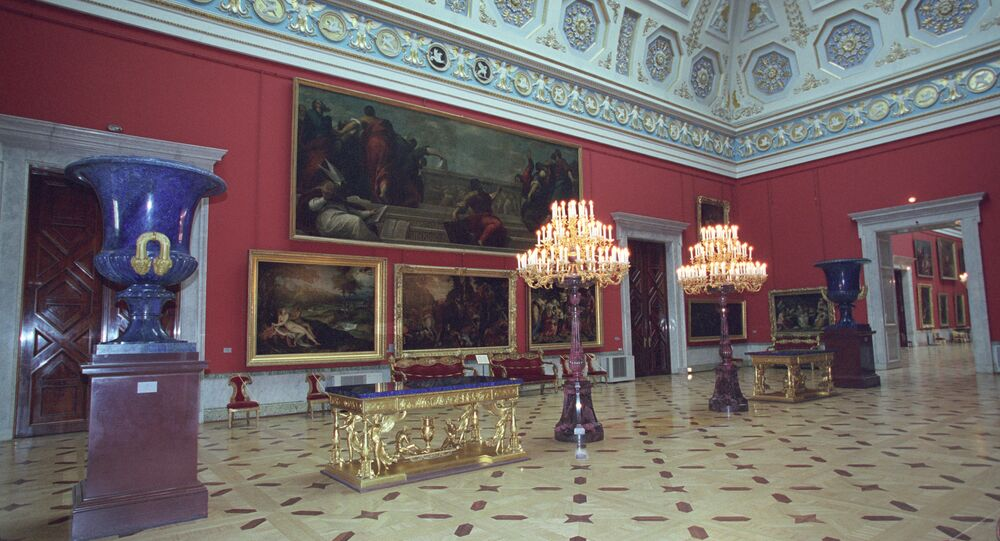 The Hall of Italian Art of XVII-XVIII centuries at the State Hermitage in St. Petersburg. (File)