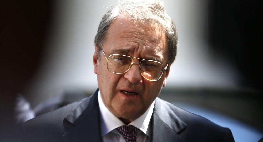 Russian Middle East envoy Mikhail Bogdanov. (File)