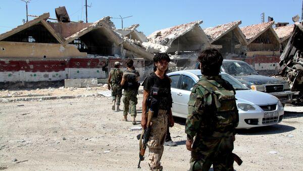 Syrian army troops. (File) - Sputnik International