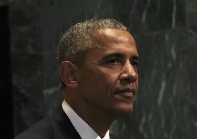 U.S. President Barack Obama sits after addressing the United Nations General Assembly in the Manhattan borough of New York, U.S., September 20, 2016.