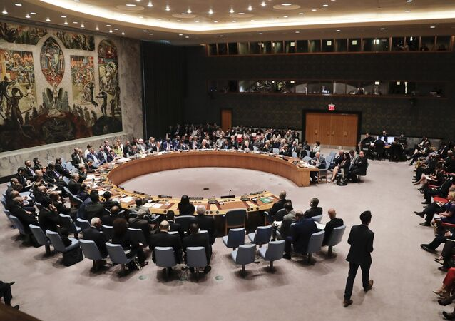Members of the Security Council meet to address the situation in Syria, Wednesday, Sept. 21, 2016, at U.N. headquarters