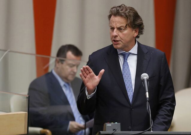 Foreign Minister Bert Koenders of the Netherlands speaks during a high-level meeting on addressing large movements of refugees and migrants at the United Nations General Assembly in Manhattan, New York, U.S., September 19, 2016