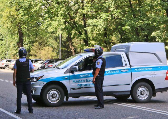 Kazakh police (File)