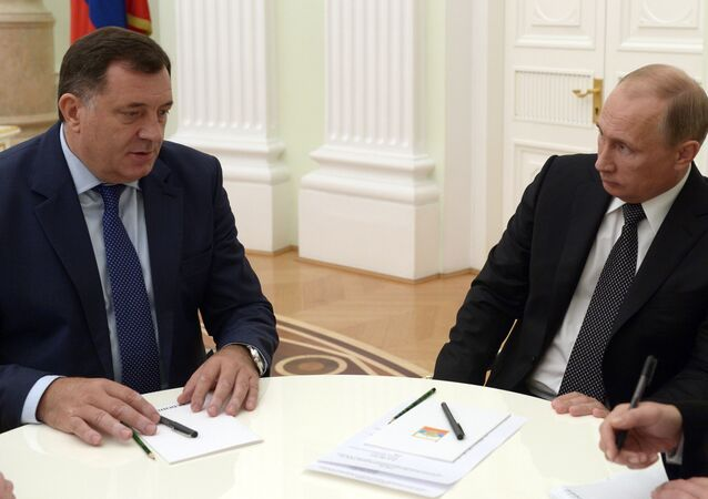 Vladimir Putin meets with Milorad Dodik