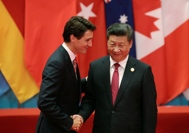 Chinese President Xi Jinping shakes hands with Canadian Prime Minister Justin Trudeau during the G20 Summit in Hangzhou, Zhejiang province, China September 4, 2016