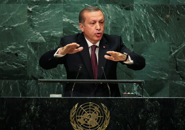 Turkish President Recep Tayyip Erdogan addresses the United Nations General Assembly in the Manhattan borough of New York, U.S. September 20, 2016