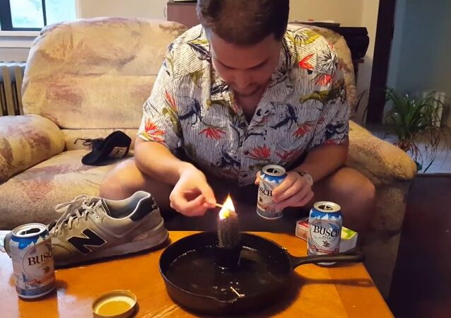 Idiot Eats a Flaming Cactus!