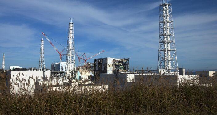 Сrippled Fukushima Daiichi nuclear power plant in Okuma, Japan.