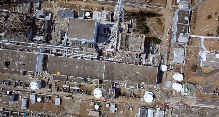 Tokyo Electric Power Co (TEPCO) Fukushima No.1 nuclear power plant at Okuma town in Fukushima prefecture.
