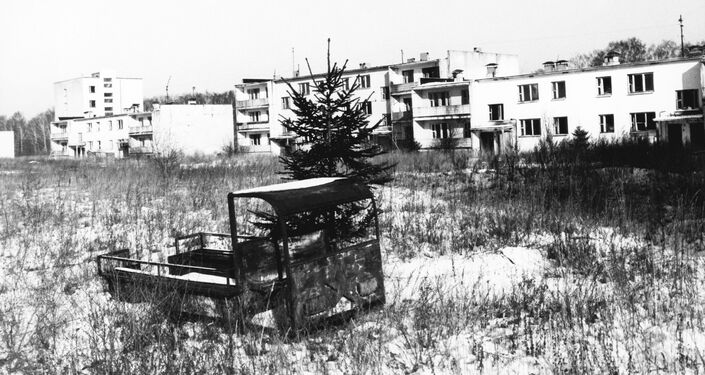 The city of Gomel in Belarus, afflicted by the radioactive fallout from the Chernobyl nuclear disaster.