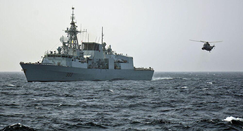 The Royal Canadian Navy frigate HMCS Toronto