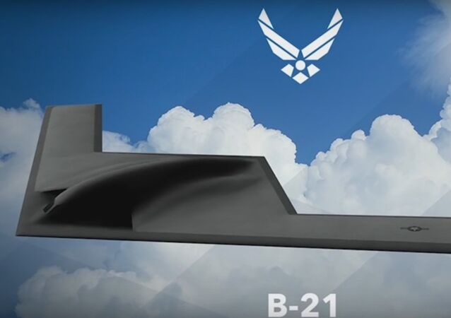 The artist rendering of  Northrop Grumman B-21 Long Range Strike Bomber (LRS-B)