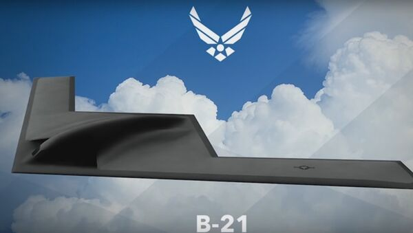 The artist rendering of  Northrop Grumman B-21 Long Range Strike Bomber (LRS-B)  - Sputnik International