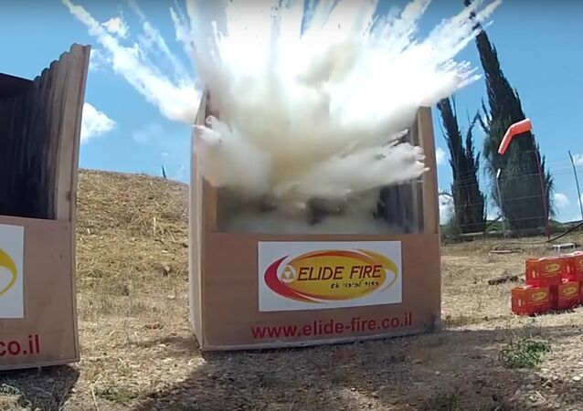 Exploding Fire Extinguisher